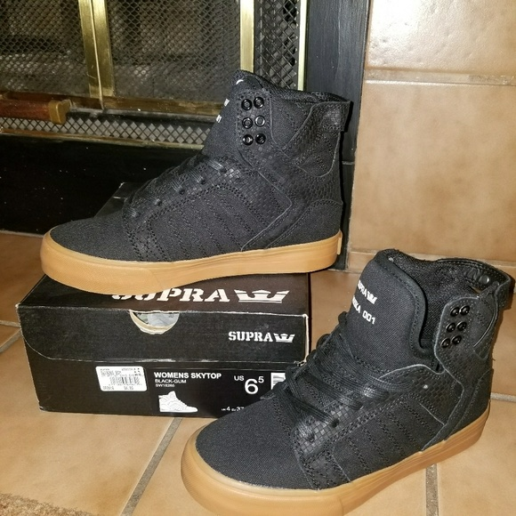 6ef26cc4348 Supra Shoes | Black Sky Top New In Box Sneakers 65 Women | Poshmark